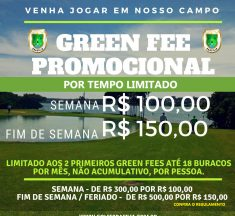 GREEN FEE PROMOCIONAL (Confira o regulamento)