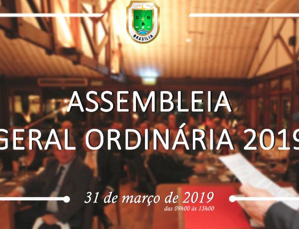 ASSEMBLEIA GERAL ORDINÁRIA 2019 EDITAL DE CONVOCAÇÃO